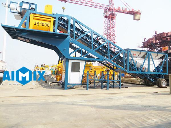 Fábrica profesional de planta de concreto móvil